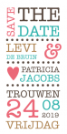 Save the date typografie