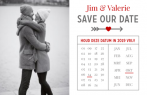Save the date met foto en kalender