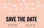 Save the date met typografie en lampjes