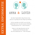 Inlegkaartje wedding ticket Special Edition