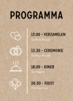 DIY label dagprogramma kraft