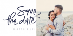 Liggende save the date kaart met foto