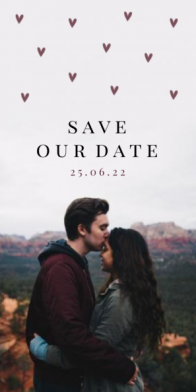 Save the date kaart met grote foto