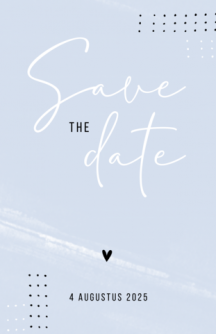 Grafische save the date kaart met stipjes