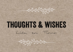 Thoughts & wishes kaartje met kraft en takje