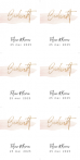 DIY bedank labels blush en gouden spetters