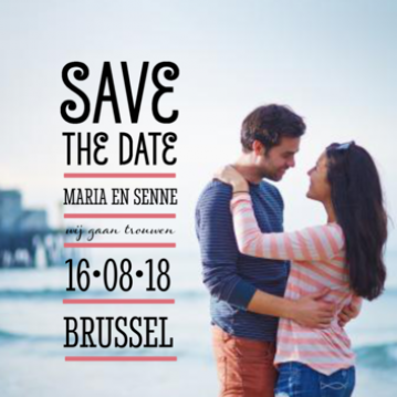 Save the date grote foto met typografie