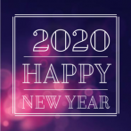 Nieuwjaarskaart 2020 Happy New Year