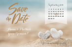 Save the date kaart strand met kalender