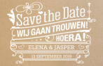 Save-the-date kaart typografie