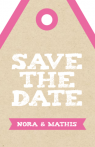 Save the Date Label in kraftpapier