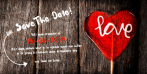 Robuuste save the date met lollie in hartvorm