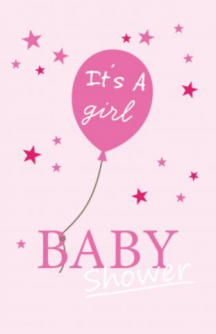 Uitnodiging babyshower It's a Girl